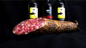 chacina iberica, chorizo y salchichon