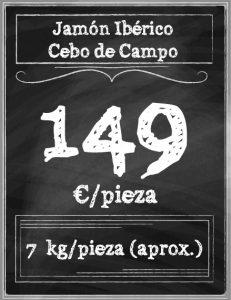 COMPRAR JAMON ONLINE CEBO DE CAMPO HUELVA